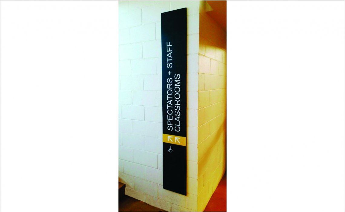 AM Series Directory - Wayfinding Sign for School - Painted Finish