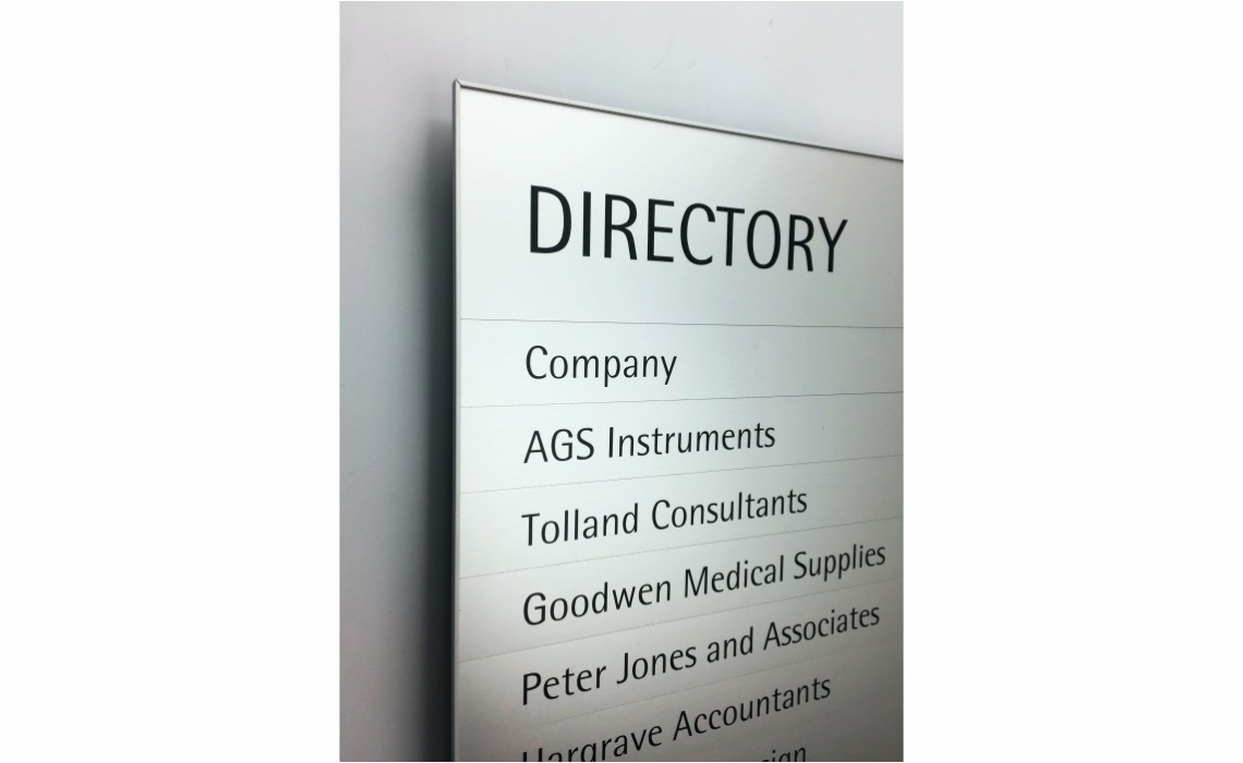 Magnetic Sign Series - Directory Board with 4 Sided Frame  - Detail