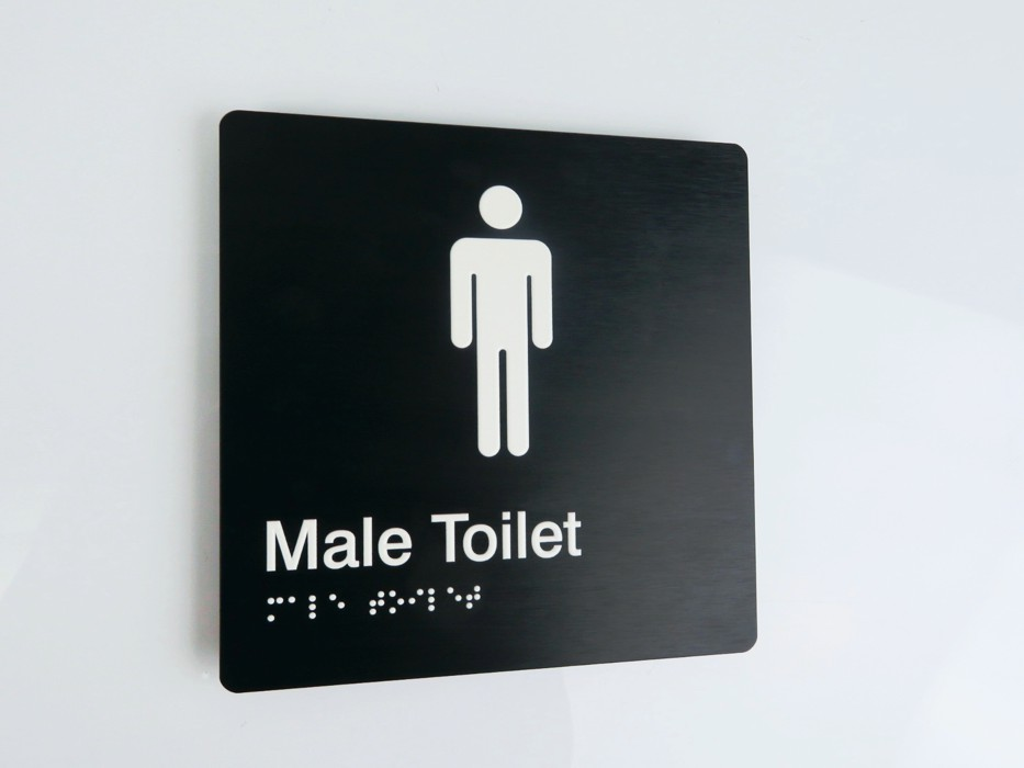 Braille3D - Male Toilet Sign - Black