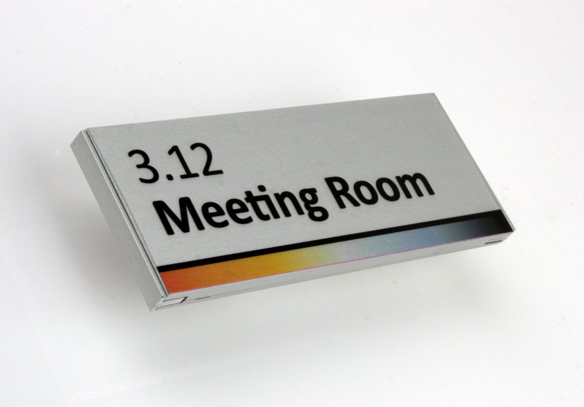 AM Series Room Sign with Digital Print 2