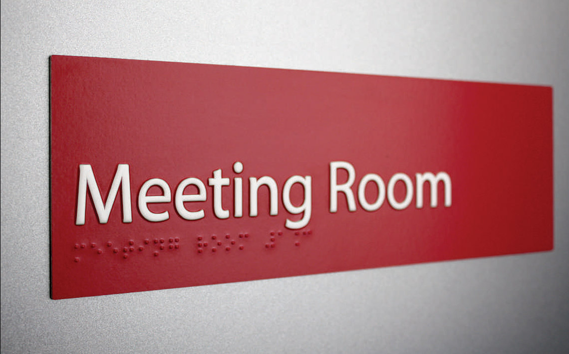 Braille3D Custom Room Sign 01