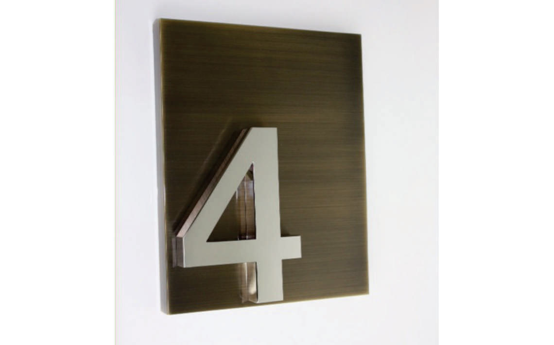 Fabricate3D Linished Oxidised Bronze Clear Coat and Polished Stainless Steel Number 4