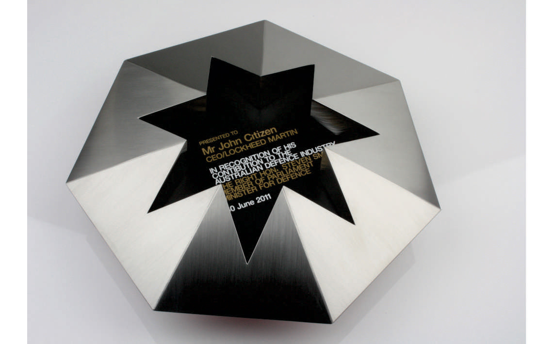 Fabricate3D Inverted Star Award Stainless Steel