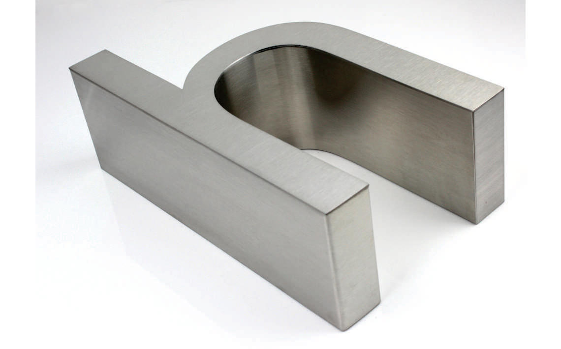 Fabricate3D Stainless Steel Letter 100mm Deep