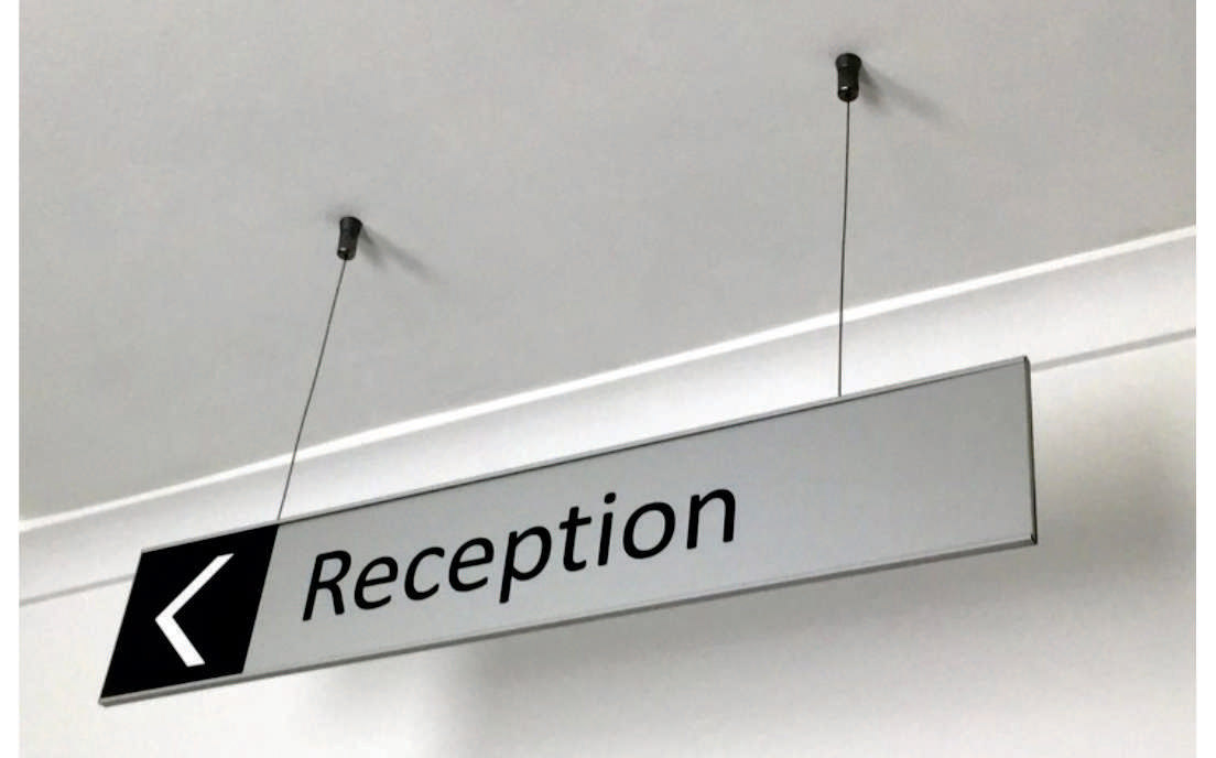 Vertex Series Suspended Sign SingleSided 01