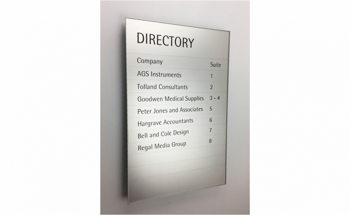 Magnetic Sign Series - Directory Board with 4 Sided Frame