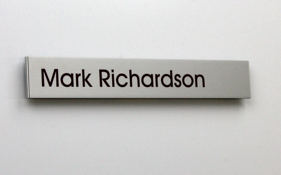 AM Series Door Sign 262.5 x 42  with vinyl graphics