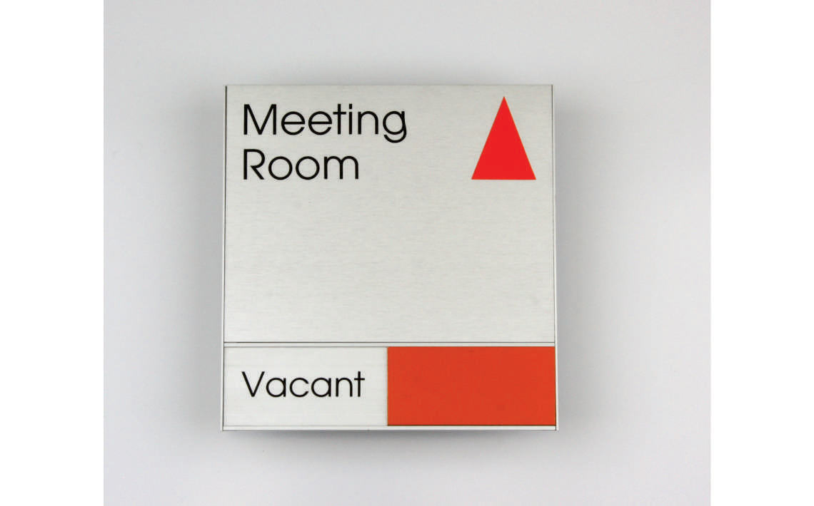 AM Series Meeting Room Sign 210 x 210 - With 42mm High Slider Section