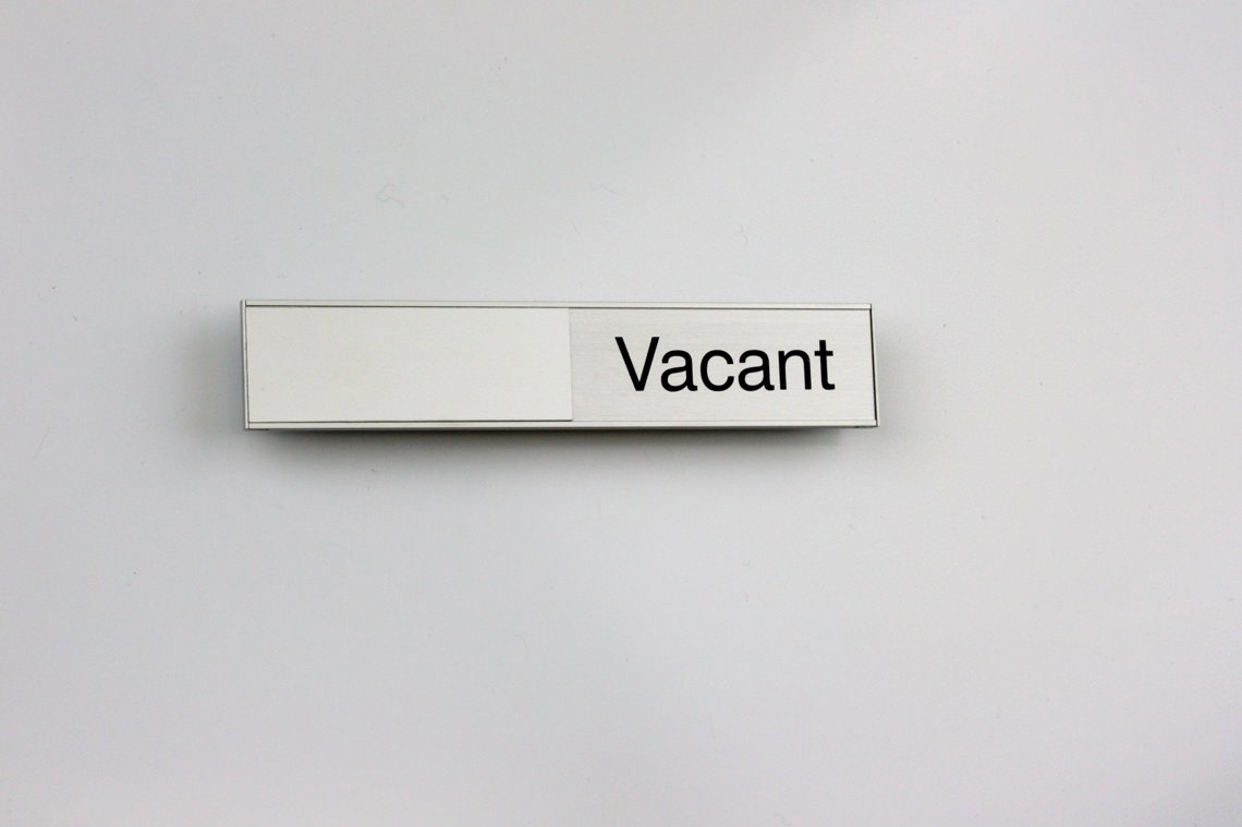 AM Series Room Occupancy Sign 105 x 21  with Vacant / In use text