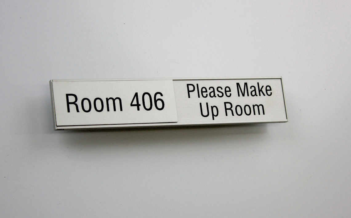 AM Series Room Occupancy Sign 157.5 x 42 - 2 Uses in one sign