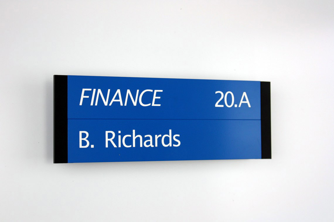 AM Series Room Sign  with 12mm Square Cut Sidelocks - Painted Finish